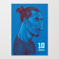 zlatan Canvas Prints featuring Zlatan 10 by SketcherOnline