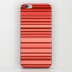 red stripes iPhone & iPod Skin