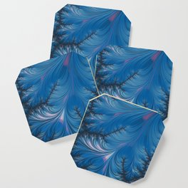 Winter Dusk - Fractal Art Coaster