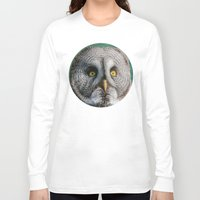 grey Long Sleeve T-shirts featuring GREY OWL by Catspaws