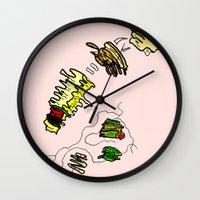 basquiat Wall Clocks featuring Basquiat Netflix by alexSHARKE