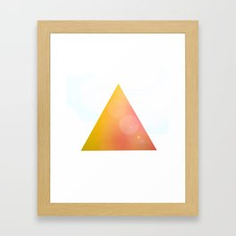 Happy triangle ! Framed Art Print