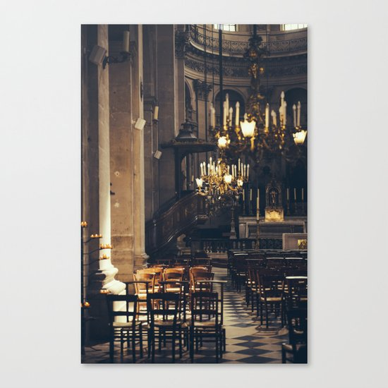 Interior of the Eglise Saint Paul Canvas Print