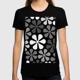Abstract Flowers Monochrome T-shirt