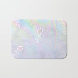 Holographic feather Bath Mat