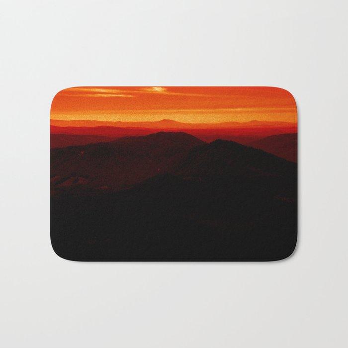 Red Horizon, Fire in the Distance. Bath Mat