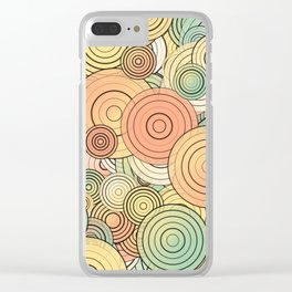Layered circles Clear iPhone Case