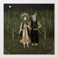 Svatba (the wedding) Canvas Print