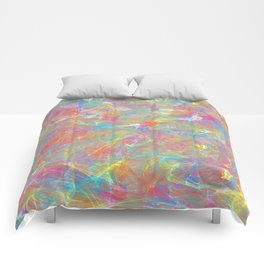 Rainbow Colorful Fractal Art Design Comforters