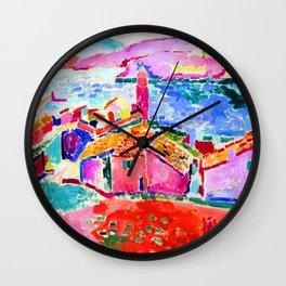 Henri Matisse Les toits de Collioure Wall Clock