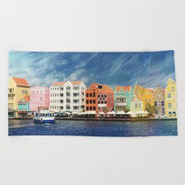Willemstad, Curaçao Beach Towel