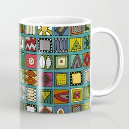 el geo teal Coffee Mug