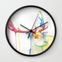 elk Wall Clocks featuring Elk by Eric Weiand