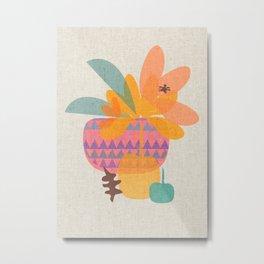 Tropical Fruit Basket Metal Print