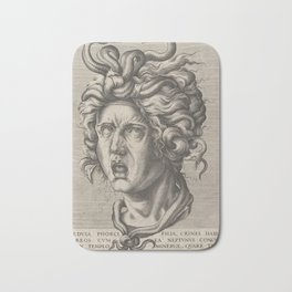 Medusa,16th Century Illustration Bath Mat