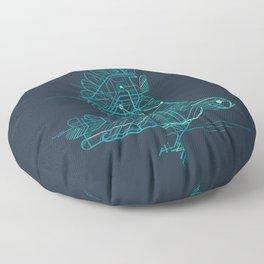 Wind-Up Bird Floor Pillow