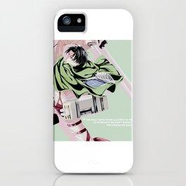 wisdom of levi ackerman iPhone Case
