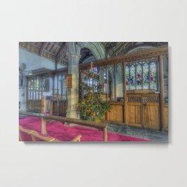 Church Christmas Tree Metal Print