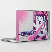 tim shumate Laptop & iPad Skins featuring Tim Burton's Edward Scissorhands by Luis Urrutia