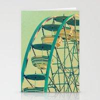 ferris wheel Stationery Cards featuring Ferris Wheel  by RDelean