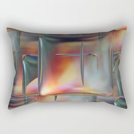 Mirrored Metallic Tile Rectangular Pillow