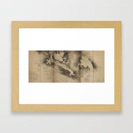Dragons and Clouds by Tawaraya Sotatsu (俵屋 宗達) Framed Art Print