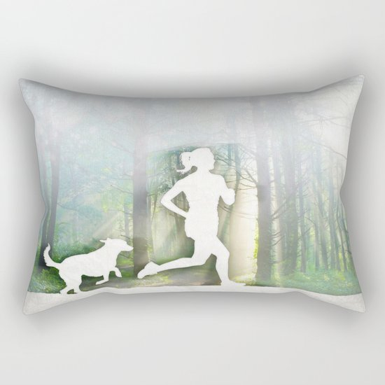 Forest Run Rectangular Pillow