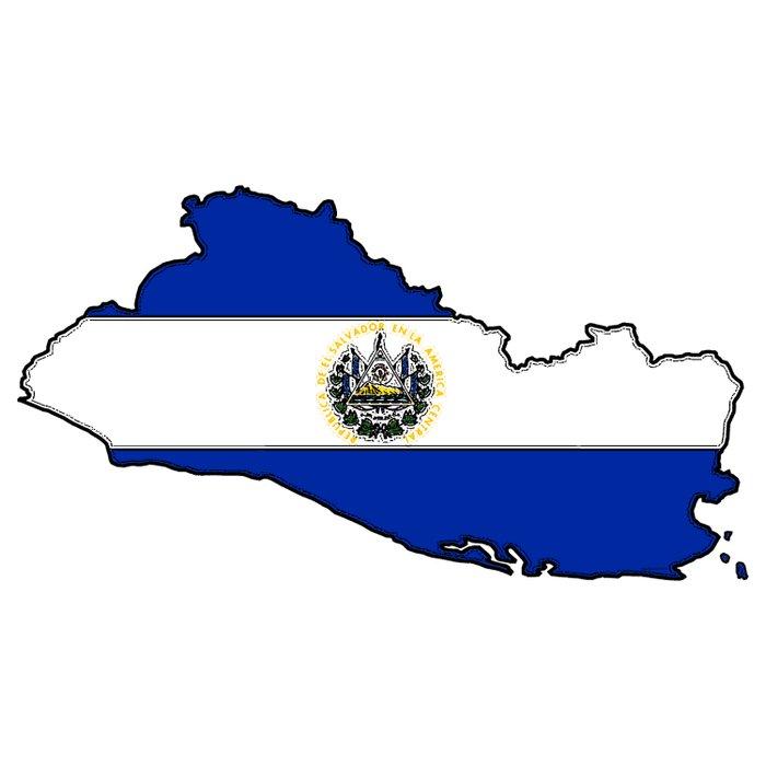 El Salvador Map with Salvadoran Flag Duvet Cover