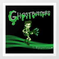 ghostbusters Art Prints featuring Ghostbusters by Glopesfirestar