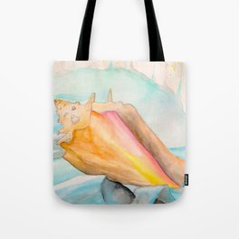 Conch Shell Watercolor Tote Bag