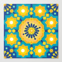 sacred geometry Canvas Prints featuring Sacred Geometry by Tashi Delek