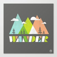 wander Canvas Prints featuring Wander  by Jenny Tiffany