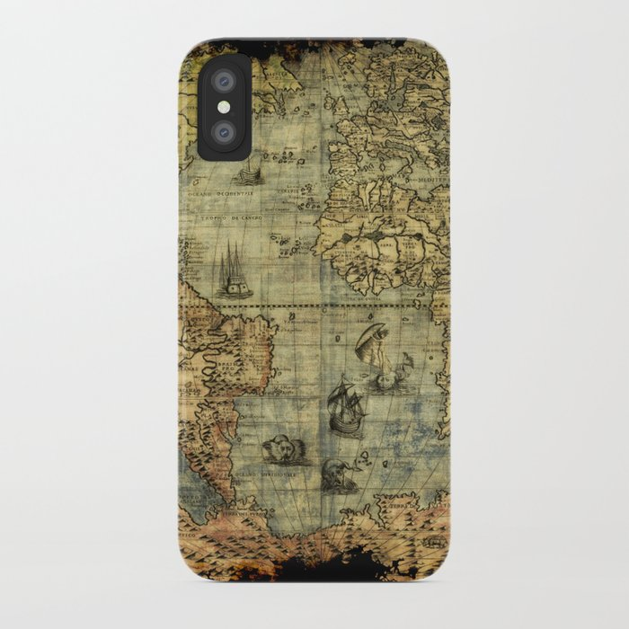 vintage old world map iphone case