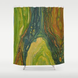 The Excavation of a Luminous Chamber (Enchanted Chemical Abyss) Shower Curtain