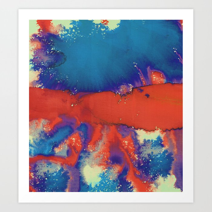 water color explosion Art Print