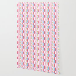 Memphis Style Geometric Abstract Seamless Vector Pattern Girly Pink Wallpaper