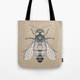 Bee pencil drawing Tote Bag