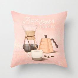 Pour Over Coffee Throw Pillow
