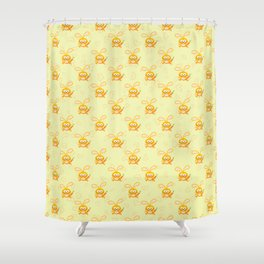 Smiling Little Bunny Shower Curtain