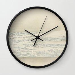 Ocean waves from Momoyogusa-Flowers of a Hundred Generations (ca 1909-1910) by Kamisaka Sekka Wall Clock
