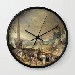 Claes Jacobsz  Van Der Heck - Witches Sabbath  1636 Wall Clock
