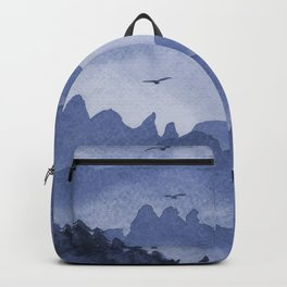 misty mountains - blue palette Backpack