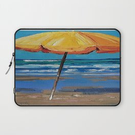 Yellow beach umbrella Laptop Sleeve