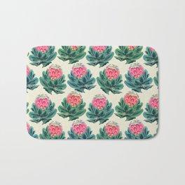 Protea flower garden Bath Mat
