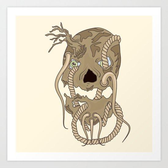 Dead Living by Tree Art Print