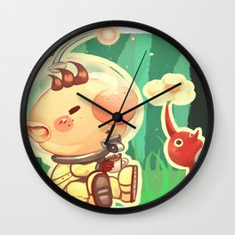 Pikmin Coffee Wall Clock