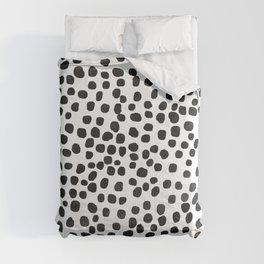Preppy Black Polka Dots Comforters