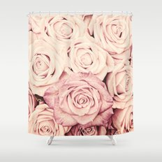 Some people grumble I Floral rose roses flowers pink Shower Curtain