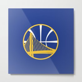 Warriors Logo Metal Print