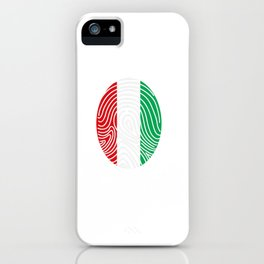 Italy flag Italian DNA iPhone Case
